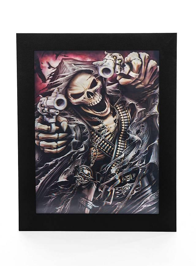 3D Horror Portrait The Grim Gangster