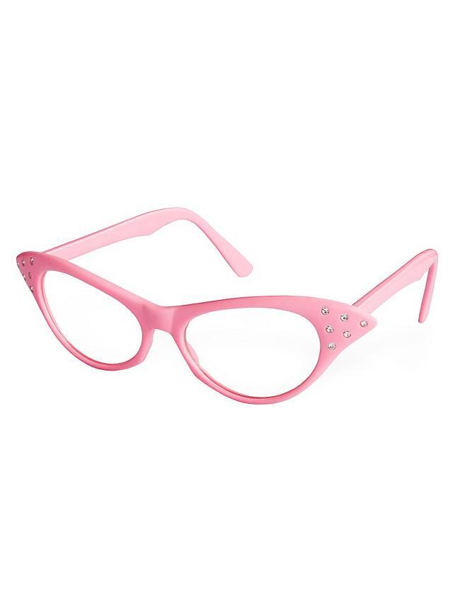 50er Brille pink