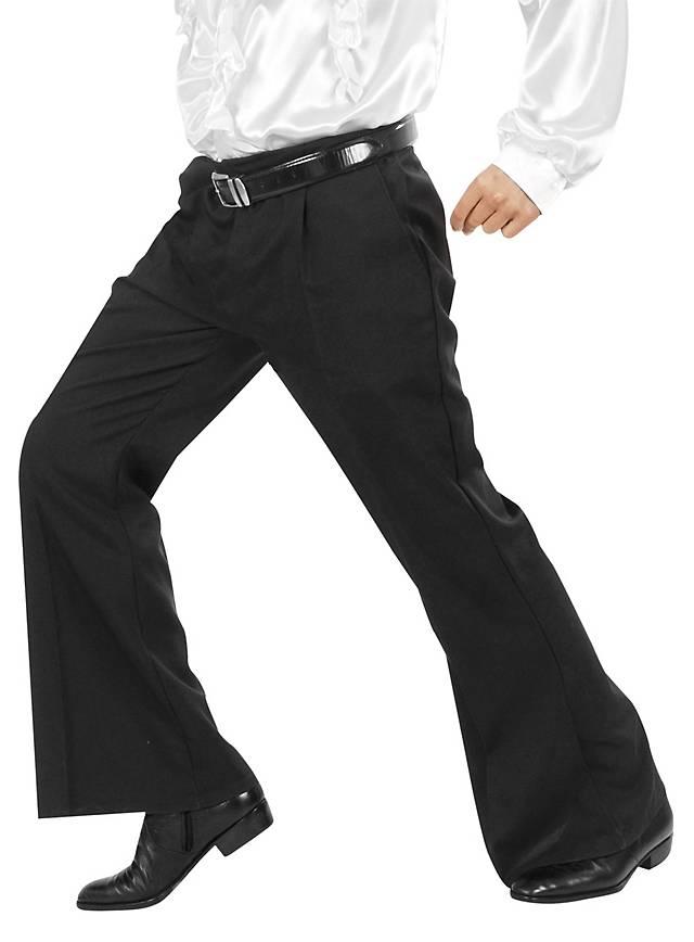 70s men's trousers black