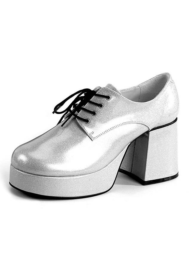 70 s platform shoes silver maskworld