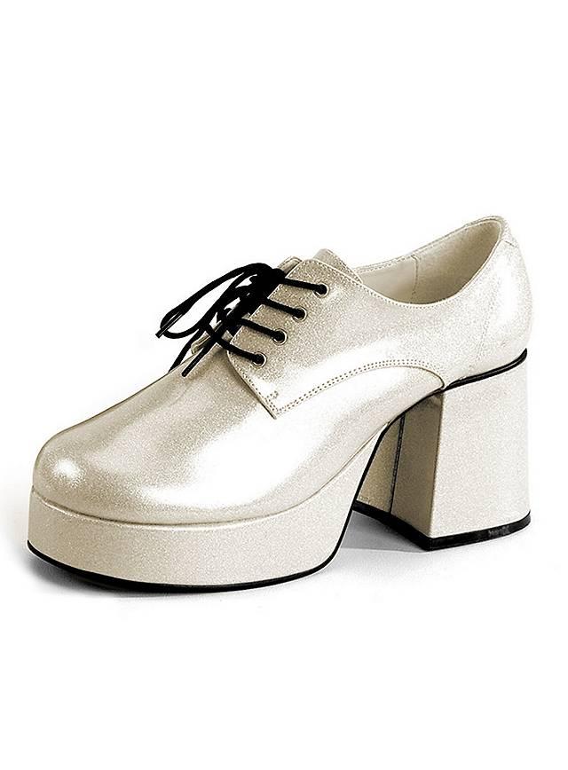 70's Platform Shoes Men silver