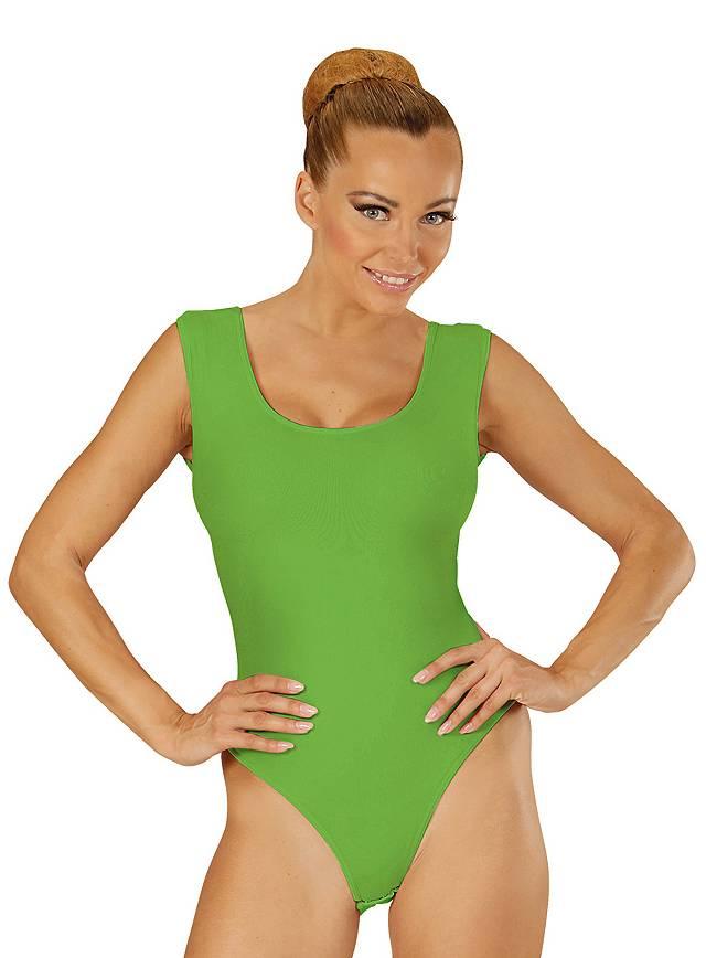 Ärmelloser Body grün