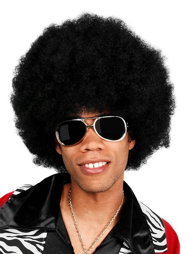 Afro Deluxe schwarz Perücke