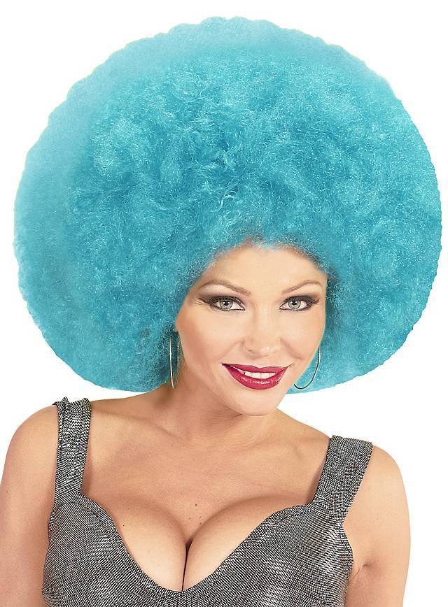 Afro XXL Wig light blue