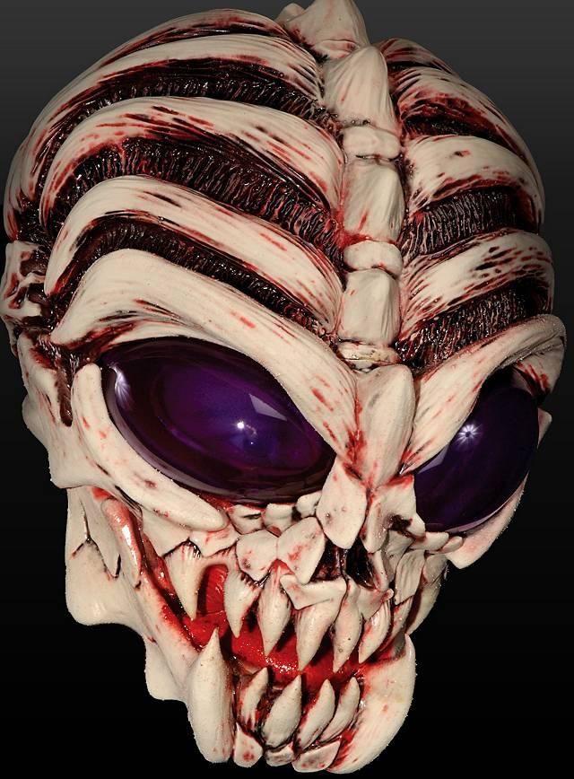 Alien Mask Angry Alien Half Mask - maskworld.com bf0a1415bcf7