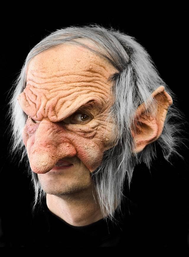 Alter Goblin Kinnlose Maske