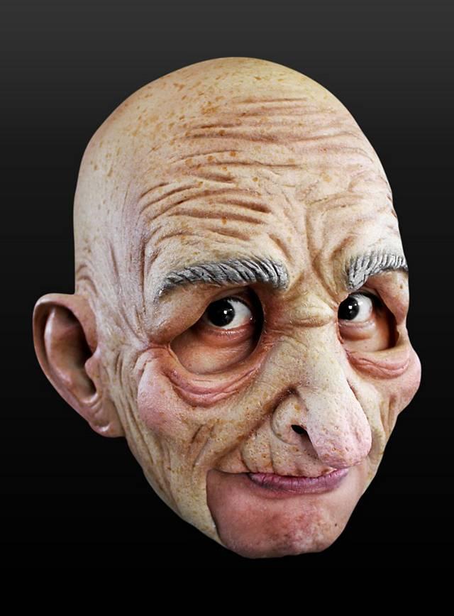 Alter Mann Kinnlose Maske aus Latex
