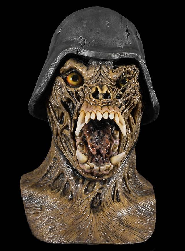 American Werewolf Zombiesoldat Maske aus Latex