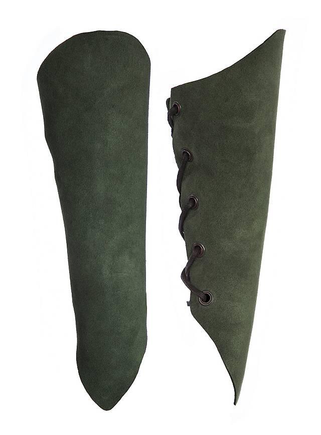 Armstulpen aus Veloursleder grün