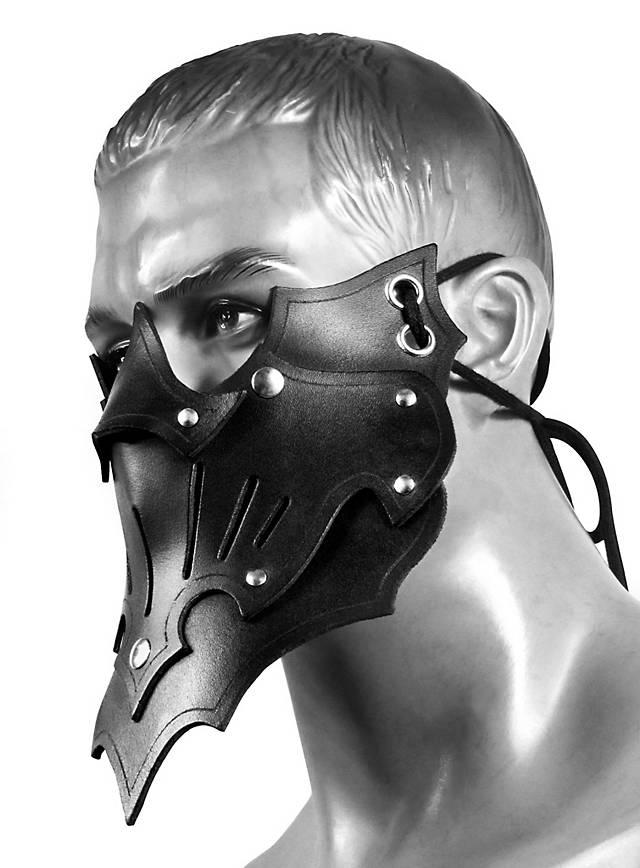 Assassinenmaske Schatten schwarz