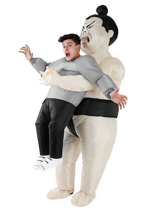 Aufblasbares Carry Me Kostüm Sumo
