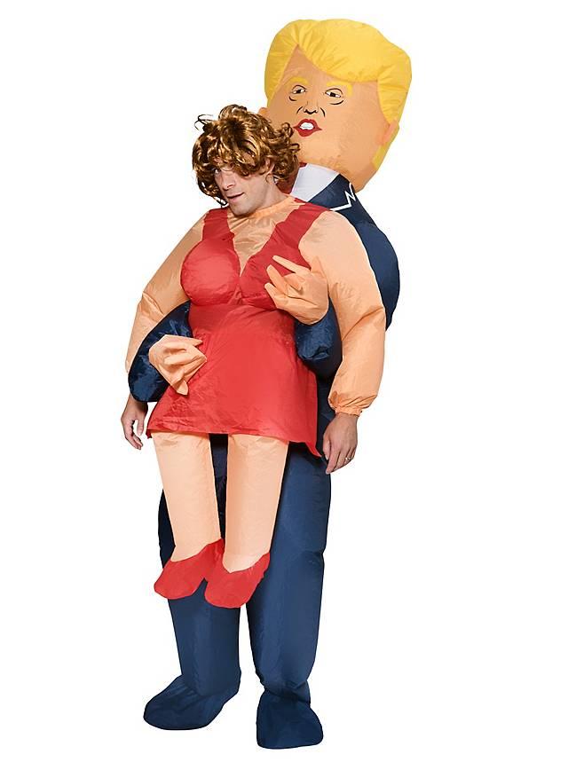 Aufblasbares Carry Me Kostüm Trump