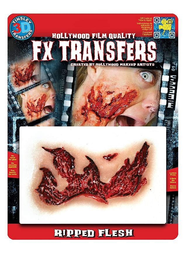 Ausgefranste Wunde 3D FX Transfers