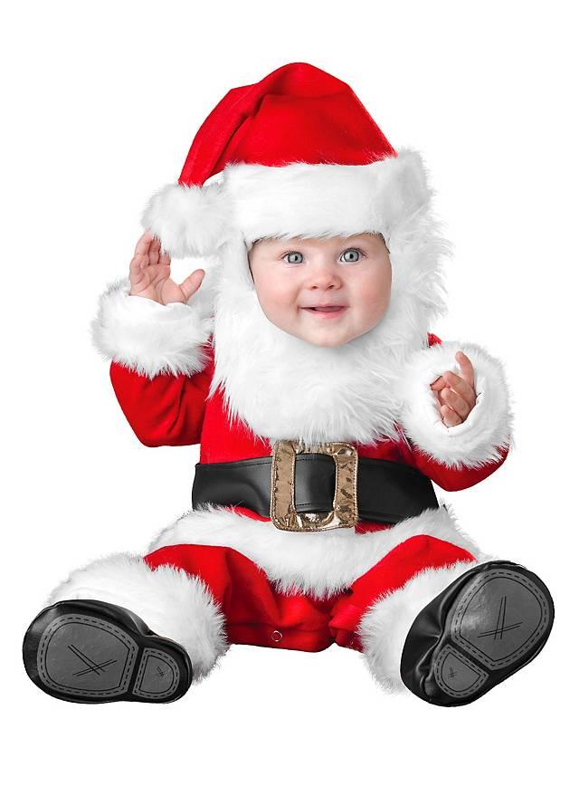 Bärtiger Weihnachtsmann Babykostüm