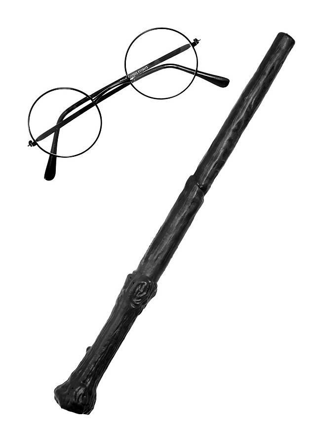 Baguette magique et lunettes d'Harry Potter