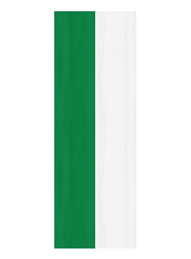 Bannière verte et blanche