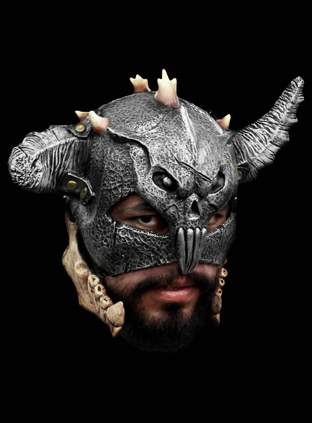 Barbarenfürst Maske aus Latex
