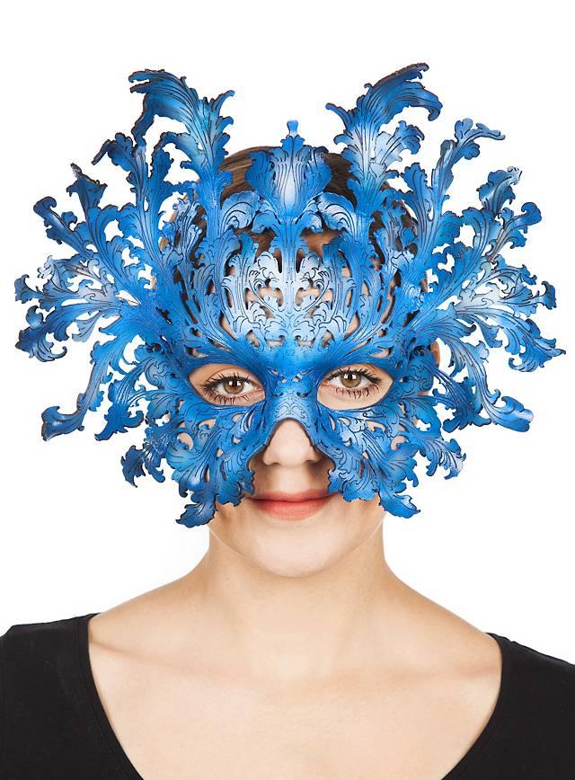 Barockmaske blau