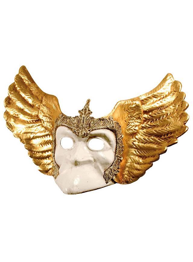 Bauta bianco con ali - Venetian Mask