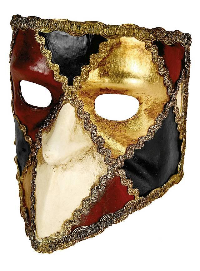 Bauta scacchi colore - Venetian Mask