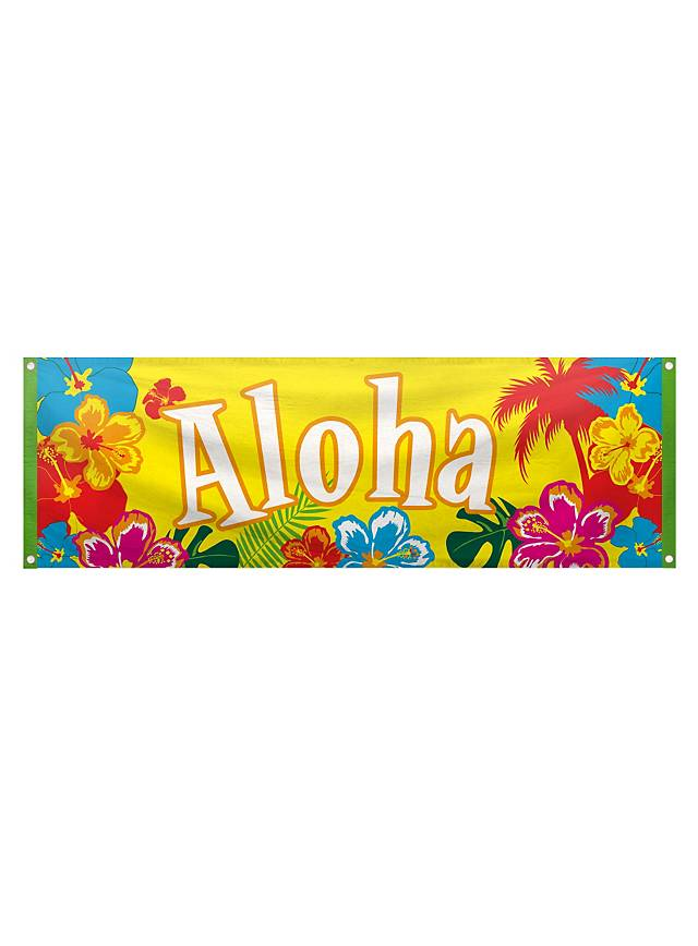 Beach Party Aloha Banner
