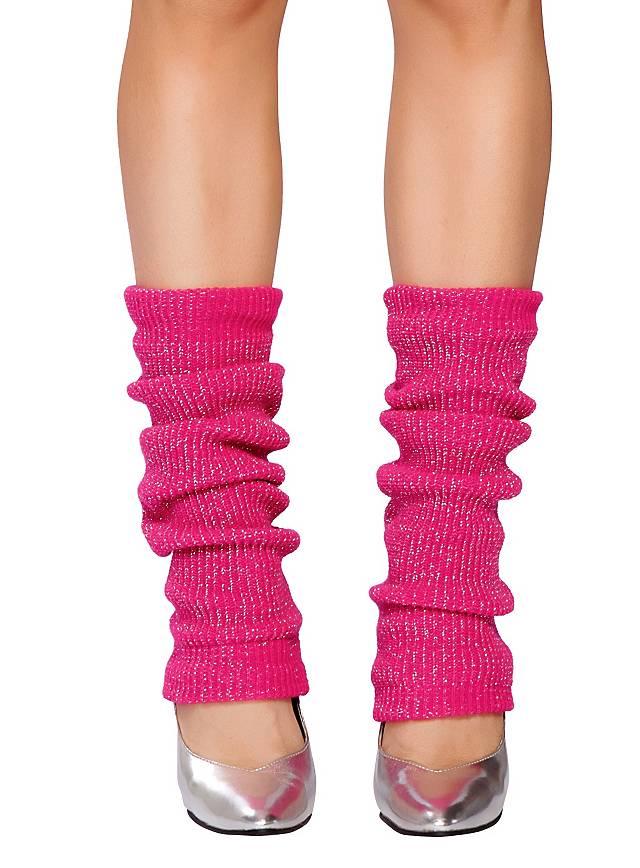 Beinstulpen pink glitter
