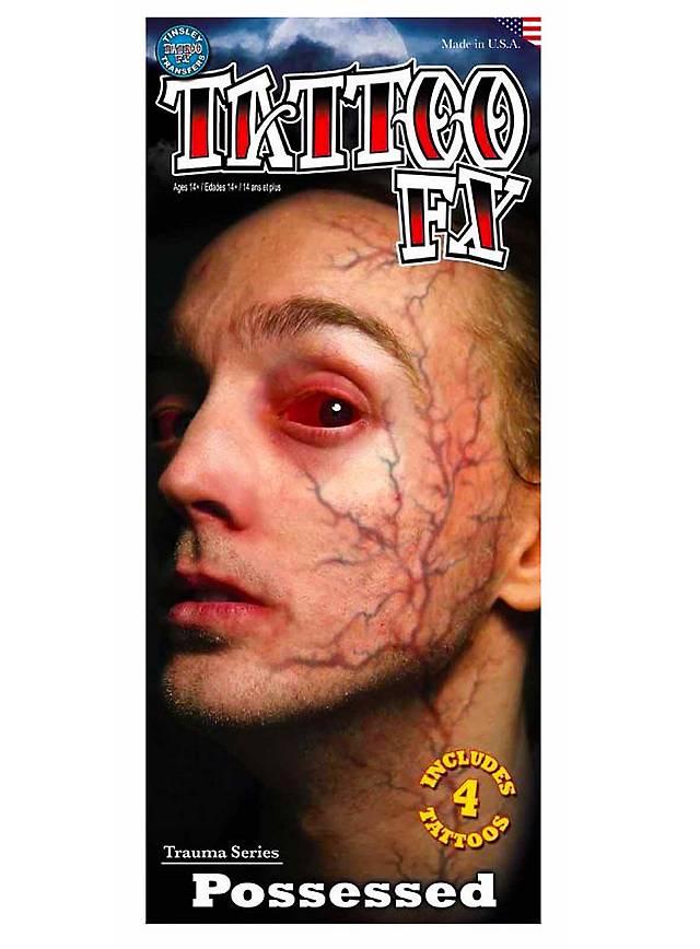 Besessener Klebe-Tattoo