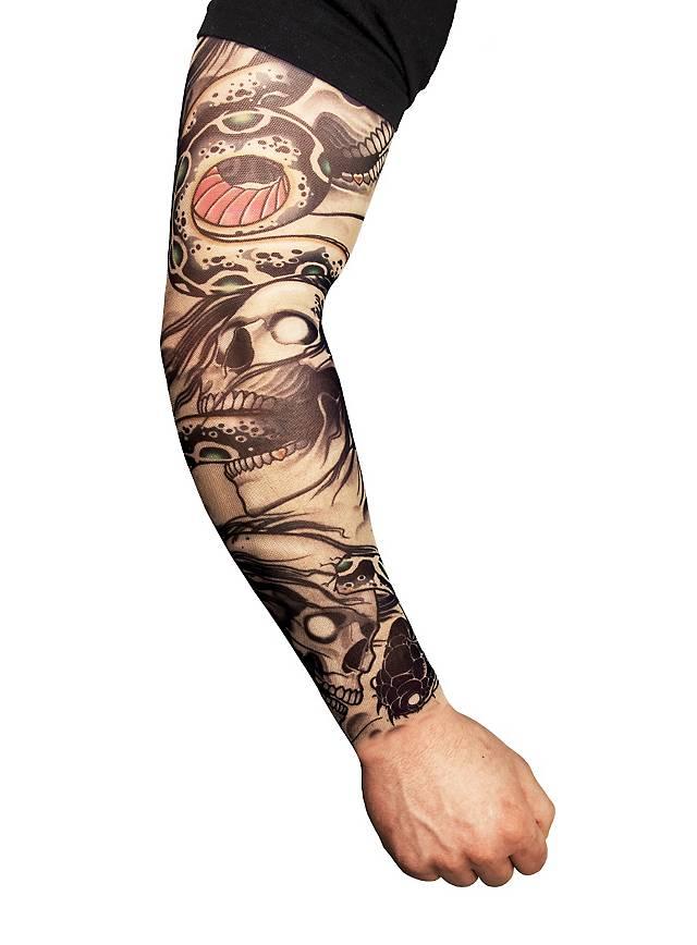 Biker Manches de peau tatouée