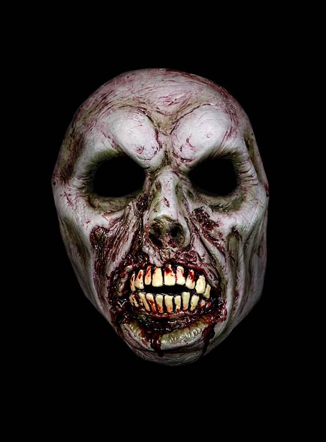 horror halbmaske bissiger zombie maske halloween jetzt. Black Bedroom Furniture Sets. Home Design Ideas
