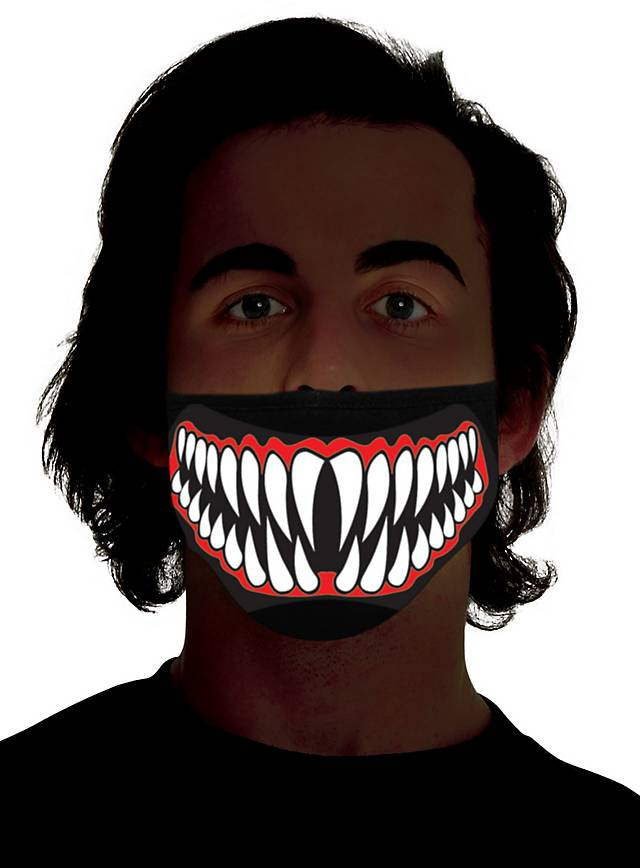 Biting mouth mask