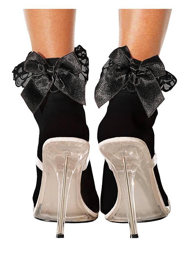 Black Ankle Socks with black Bow