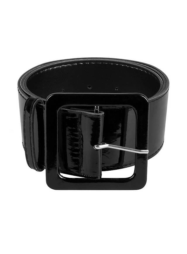 Black lacquer belt