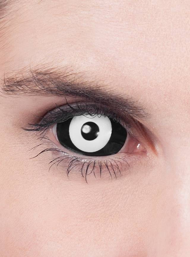 Black & White Sclera Contact Lenses