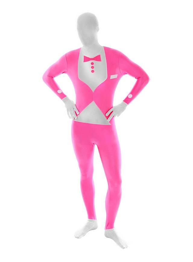Blacklight Morphsuit Tuxedo pink Full Body Costume