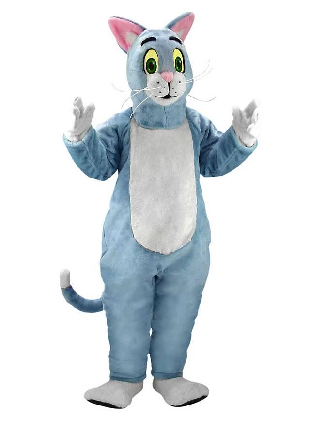 Blaue Katze Maskottchen