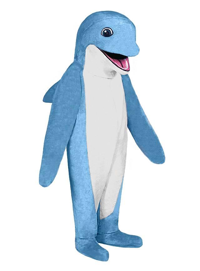 Blauer Delphin Maskottchen