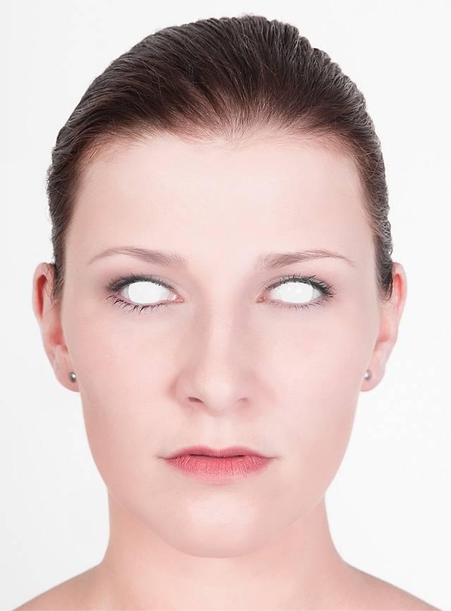 blinder seher kontaktlinsen wei monatslinsen ohne st rke halloween linsen ebay. Black Bedroom Furniture Sets. Home Design Ideas