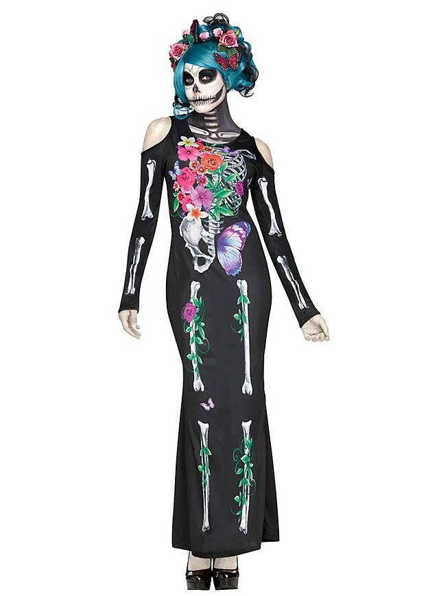 Blühender Tod Skelettkleid Kostüm