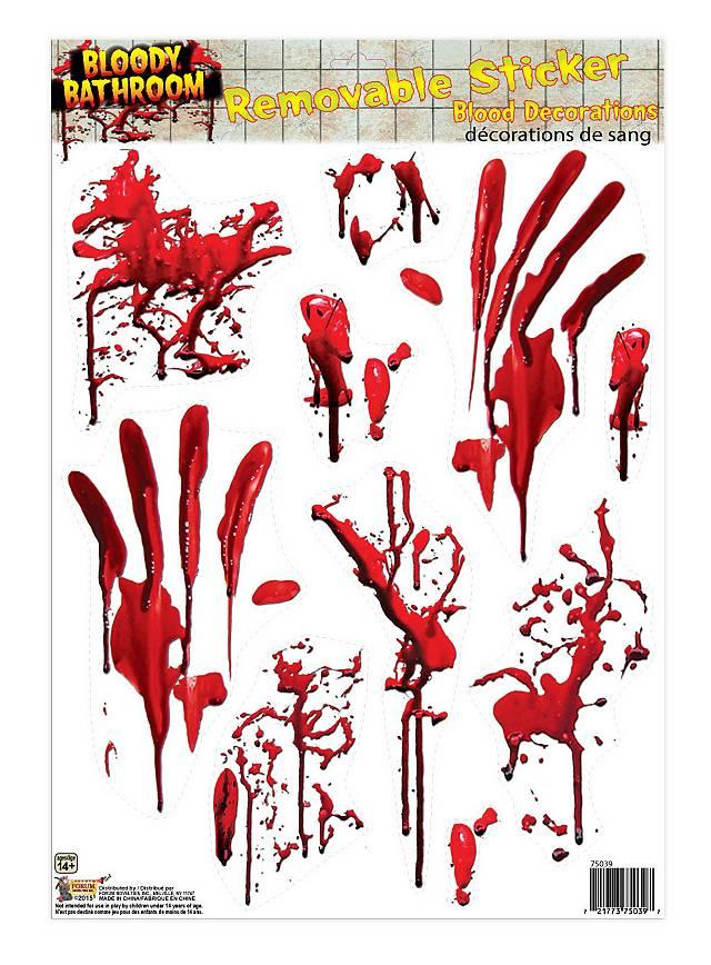 Blutbad Fliesen-Sticker Halloween Deko