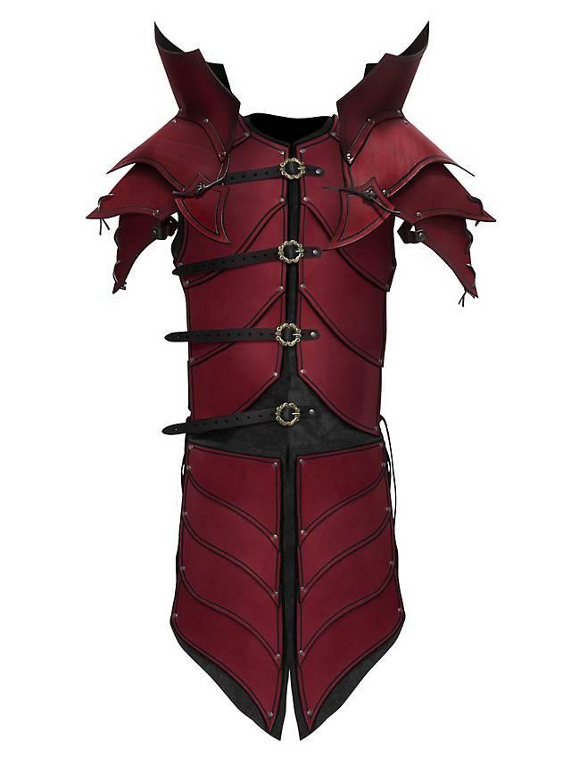 Blutelf Paladin Lederrüstung rot