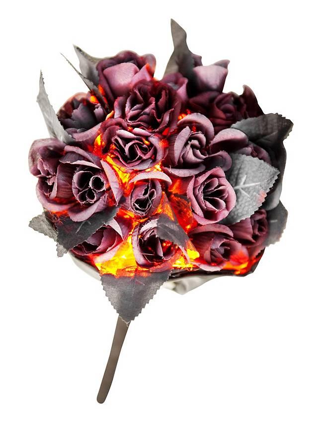 Blutrotes Halloween Bouquet mit Leuchtfunktion