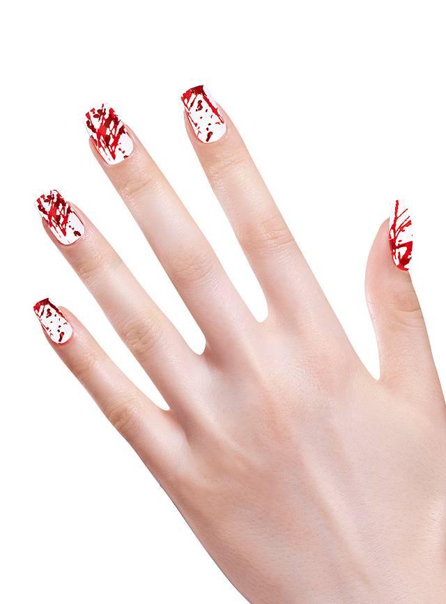 Blutspritzer Fingernägel