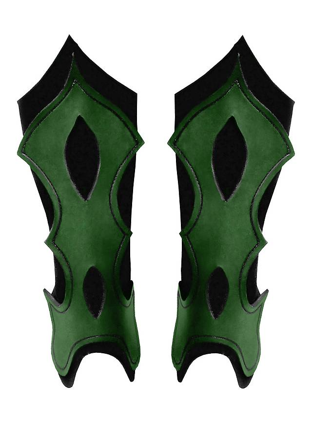 Bogenschütze Beinschienen grün