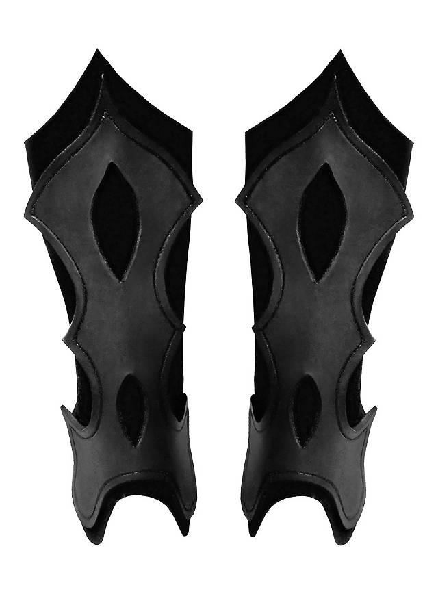 Bogenschütze Beinschienen schwarz