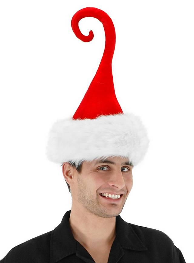 Bonnet de père Noël à pointe en spirale