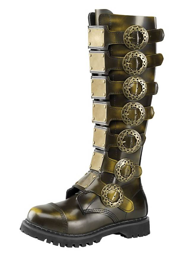 Bottes steampunk Deluxe bronze pour homme