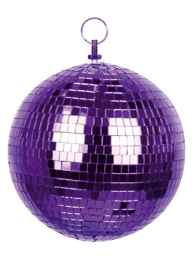Boule disco violette