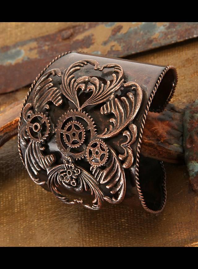 Bracelet Steampunk cuivré