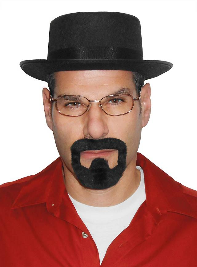MEN/'S HEISENBERG BREAKING BAD FANCY DRESS TV HAT GLASSES GOATEE WALTER WHITE