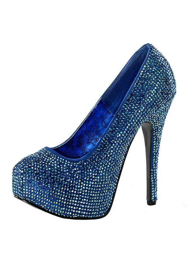 bunt strass high heels blau. Black Bedroom Furniture Sets. Home Design Ideas